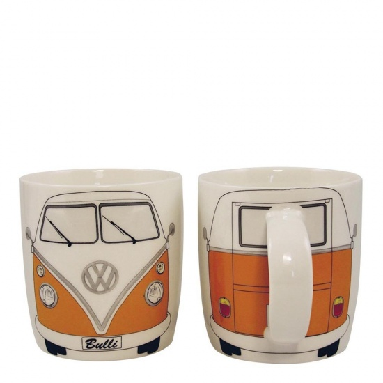 Official VW T1 Camper Van Mug - Orange Volkswagon