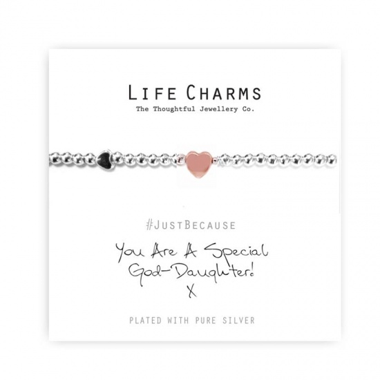 You Are A Special God-Daughter - Silver Plated Bracelet - Life Charms