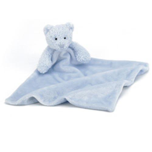 Jellycat Bebe Bear Blue Soother Comfort Blanket