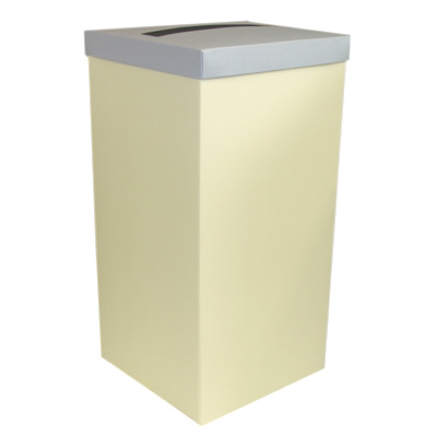 Ivory Wedding Post Box with Blue Lid - Card Receiving Box