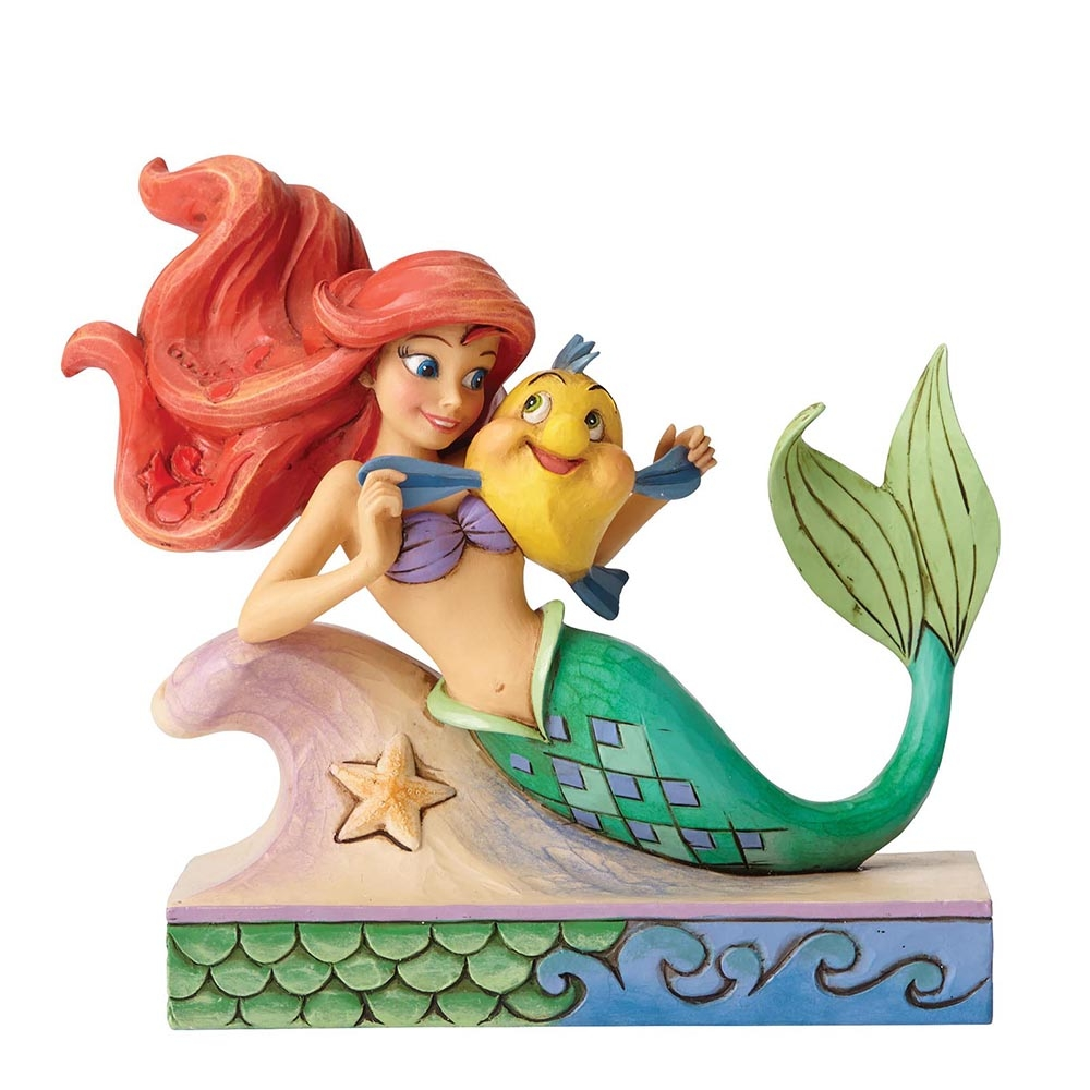 Fun And Friends Ariel With Flounder Figurine Little