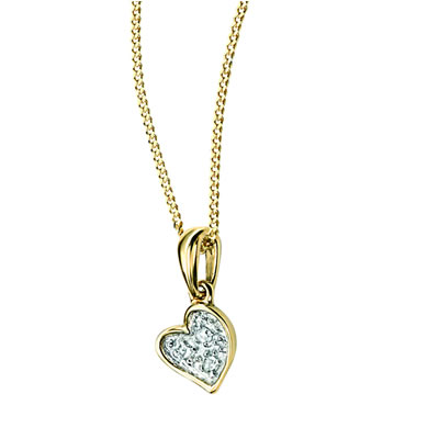 9ct gold d for diamond heart pendant necklace threelittlebears 9ct gold d for diamond heart pendant necklace mozeypictures Choice Image