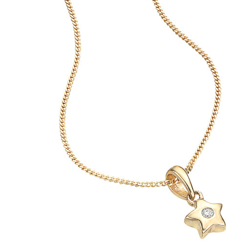 9ct gold star pendant necklace by d for diamond threelittlebears 9ct gold star pendant necklace by d for diamond mozeypictures Image collections