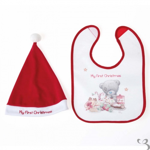 Me to You - Tiny Tatty Teddy - My First 1st Christmas Hat and Bib ... 02d8e981274