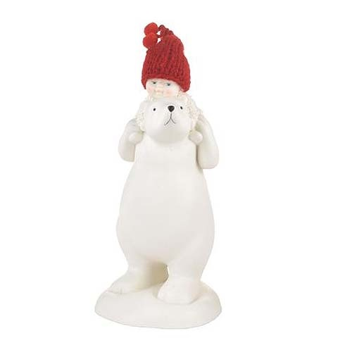 Snowbabies Bear Back Ride Figurine Threelittlebears Co Uk
