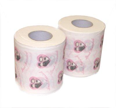 Bride and Groom Just Married or Honeymoon Toilet Roll 2pk ...