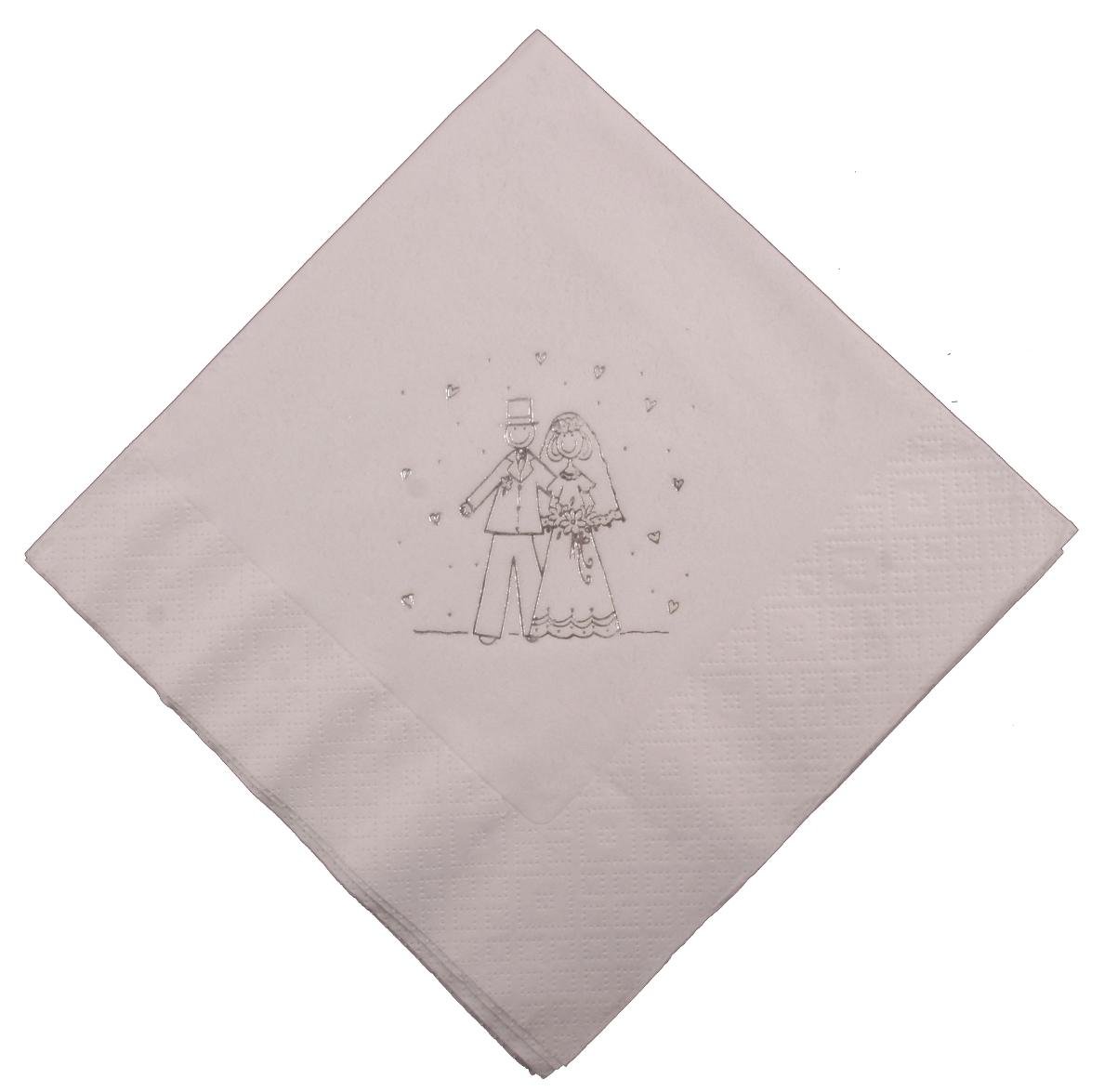 bride groom white wedding napkins. Black Bedroom Furniture Sets. Home Design Ideas