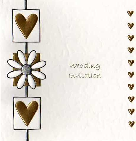 daisy heart luxury wedding invitations