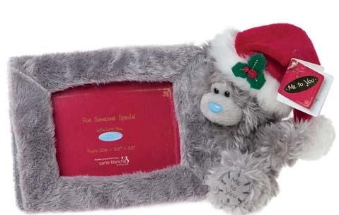 Me to You - Tatty Teddy Christmas Plush Bear with Photo Frame ...