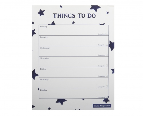 emma bridgewater starry skies to do list pad