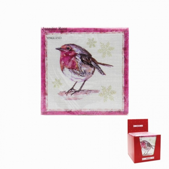 Winter  Robin Napkins x 20 - Perfect for Parties and tables