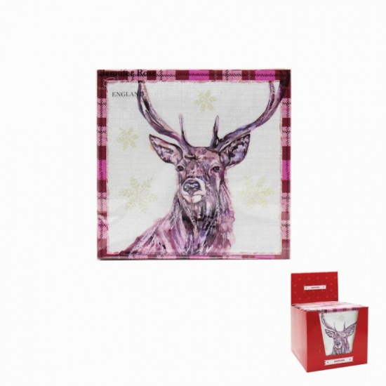 Winter Stag Napkins x 20 - Perfect for Parties and tables