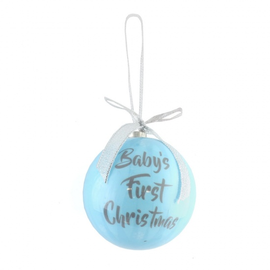 Blue Baby's First Christmas - 1st Christmas Tree Bauble