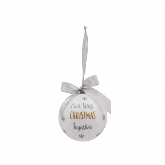 Our First Christmas Together Large Bauble - 1st Christmas together Gift