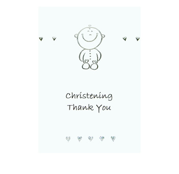 Luxury Christening Thank You for Gift Cards - Cute Baby