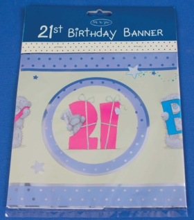 Me To You Bears Tatty Teddy Happy 21st Birthday Party Banner