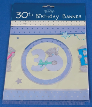 Me To You Bears Tatty Teddy Happy 30th Birthday Party Banner