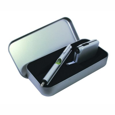Mini Spirit Level & Torch Gift Set