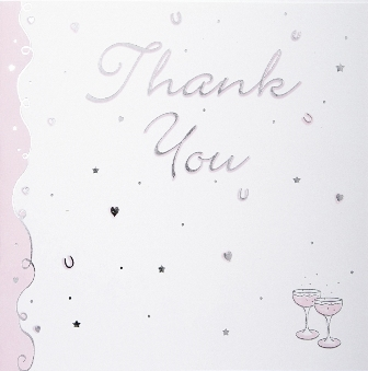 Pink Champagne Luxury Wedding Thank You Cards