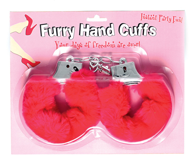 Pink Fluffy Hen Night Handcuffs