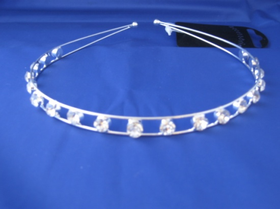 Silver and Crystal Headband - HA8289