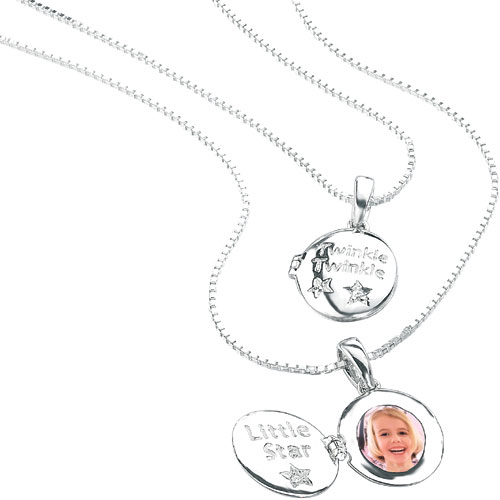 Silver Twinkle Twinkle Little Star Locket by D For Diamond