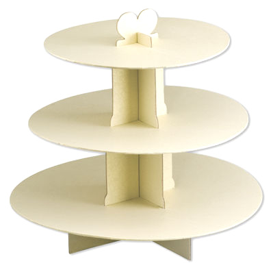 White Card Wedding Cake Stand