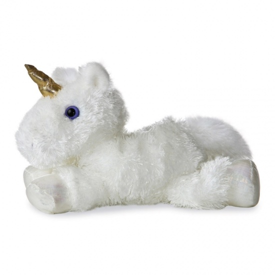 White Unicorn 8'' Flopsie soft toy by Aurora World