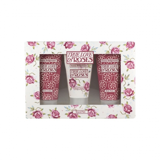 Emma Bridgewater True Love & Roses Travel - Hand & Body Trio 3 x 60ml