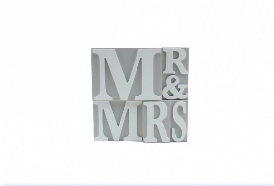 Mr & Mrs Decorative Wooden Plaque