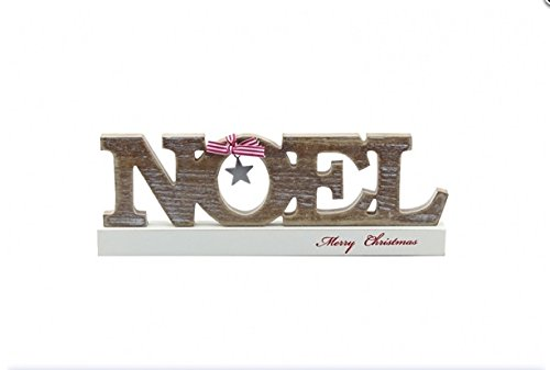 Noel  LargeWooden Decorative Block - Merry Christmas - Shabby Chic / Contemporary