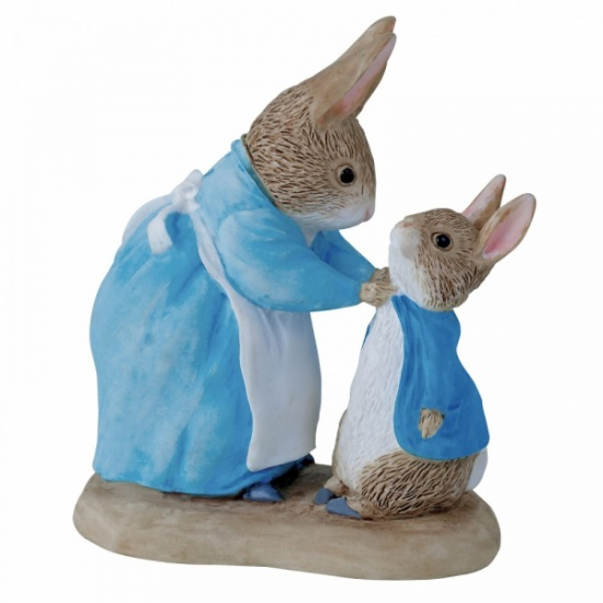 Beatrix Potter - Mrs Rabbit & Peter Figurine / Ornament