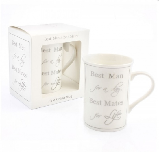 Best Man for A Day Best Mate for life - Fine China Mug Gift