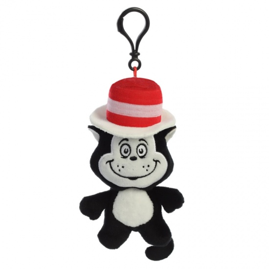 Cat In the Hat - Dr Seuss Plush Bag Clip Keychain - Brand New