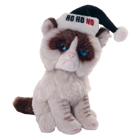 Grumpy Cat -  Christmas Holiday Ho Ho NO Plush Soft Toy - Gund - Officially Licenced