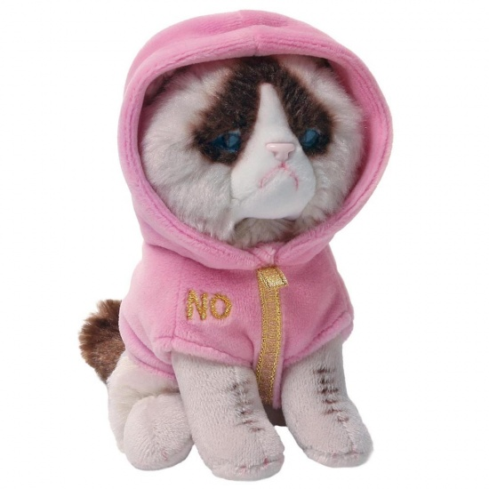Grumpy Cat - Cat Couture Pink Hoodie Soft Toy - Gund
