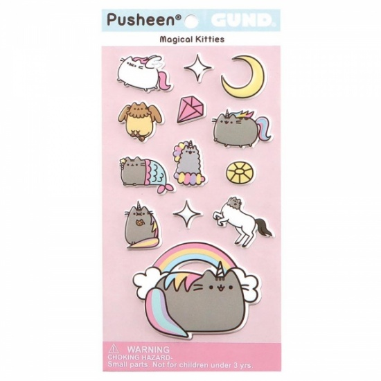 Pusheen Magical Kitties Stickers Sheet -  adorable bubble puffy pastel stickers