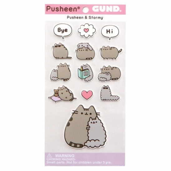 Pusheen And Stormy Stickers Sheet - adorable bubble puffy pastel stickers