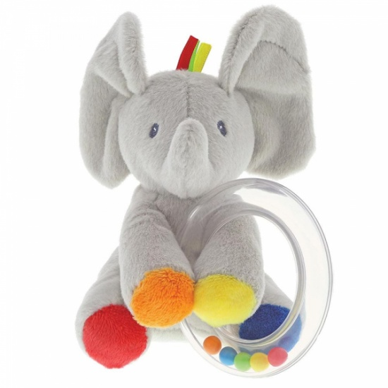 Gund Baby Flappy the Elephant Rattle Soft Plush Toy