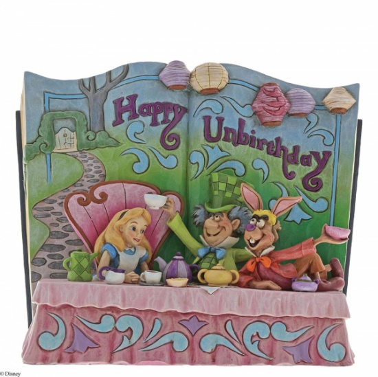 Disney Traditions - Happy Unbirthday Storybook Alice in Wonderland Tea Party