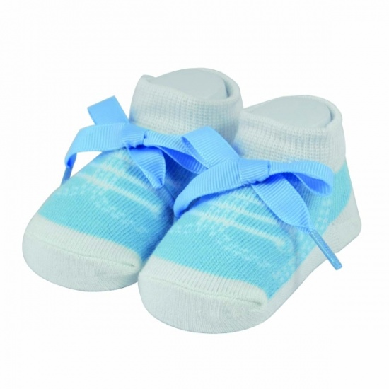 Baby Boutique - Boys Blue Trainer Socks - Gift Boxed - Newborn