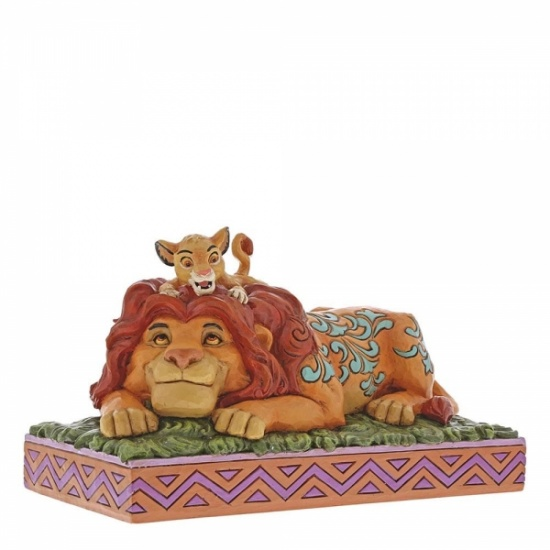 Disney Traditions A Fathers Pride Simba & Mufasa Disney Figurine - Lion King