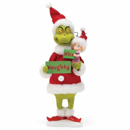 Grinch Naughty or Nice? with Cindy Lou 12'' Tall Figurine Possible Dreams dept 56