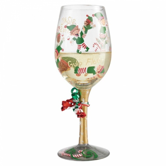 Lolita Tipsy Elf Wine Glass - Gift Boxed - Gift Boxed