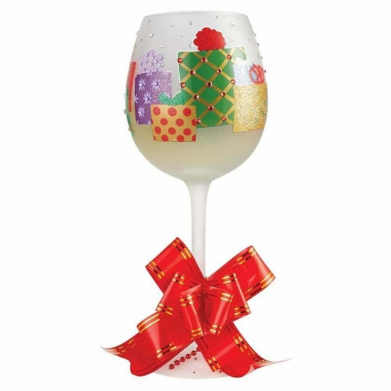 Lolita Superbling Yuletide Treasures Christmas Extra Large Wine Glass - Gift Boxed