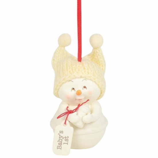 Snowpinions - Baby's 1st Christmas Snowman Ornament