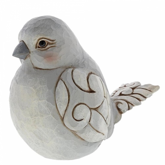 Jim Shore Heartwood Creek Charming Chirper Grey Bird Figurine