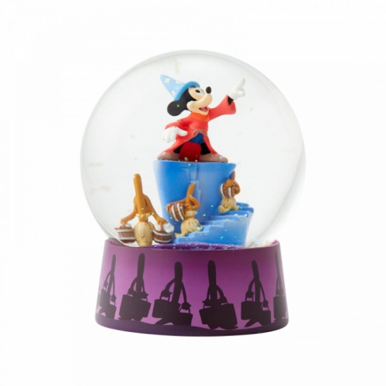 Disney Traditions Fantasia Waterball Figurine Mickey Mouse Snow Globe