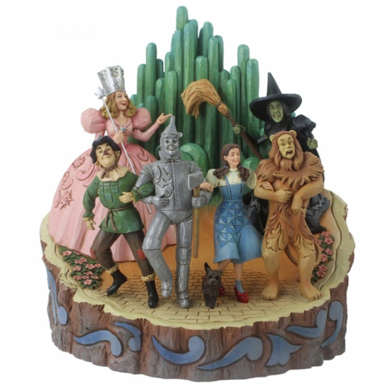 Jim Shore Adventure to the EMERALD CITY Wizard of Oz Carved By Heart Figurine