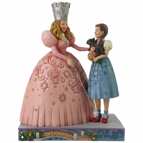 Jim Shore Wizard Of Oz Glinda & Dorothy Ruby Slippers Figurine